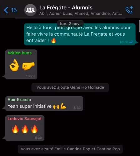 Communauté alumnis La Frégate